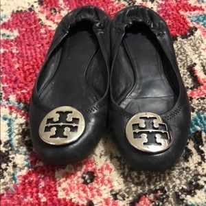 Black and Silver Tory Burch Flats size 7.5